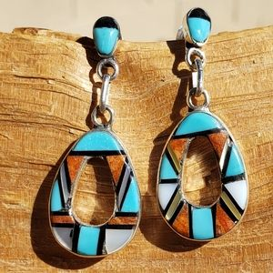 Native American Turquoise Spiny Oyster Sterling